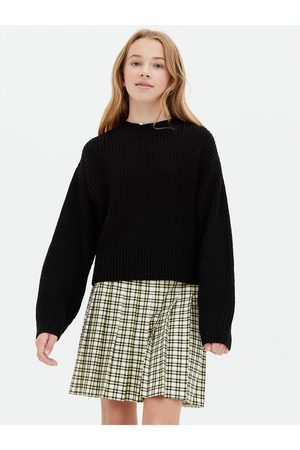 New Look Girls Jumpers - Ribbed Puff Sleeve Boxy Jumper