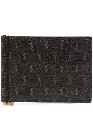 Saint Laurent Monogram-pattern cardholder
