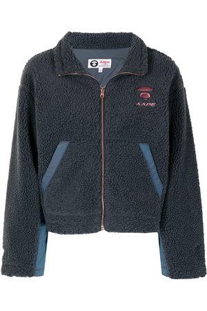 AAPE BY A BATHING APE Zipped long-sleeve fleece jacket