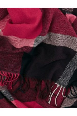 Hobb's M&S Womens Wool Checked Tassel Scarf - Mix, Mix