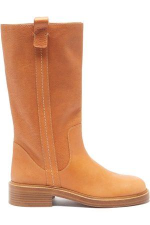 Chloé Edith Leather Knee-high Boots - Womens - Tan