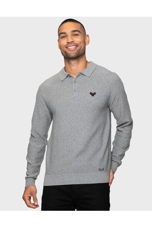 Threadbare Men Polo Shirts - Thorton Marl Plain Textured Polo