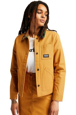 Timberland Women Summer Jackets - Workwear chore jacket for women in yellow , size l