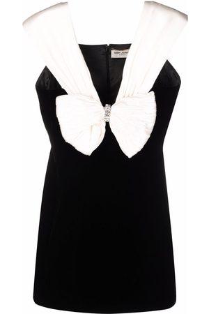 Saint Laurent Women Party Dresses - Bow-detail fitted mini dress