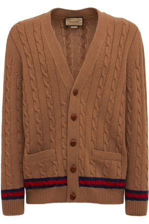 Gucci Men Cardigans - Cashmere & Wool Cable Knit Cardigan