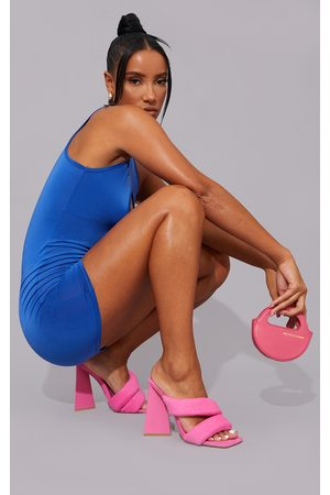 PRETTYLITTLETHING Women Heels - Double Strap Triangle Heeled Mules