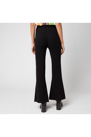 Whistles Women's Kai Knitted Ribbed Flare Trousers