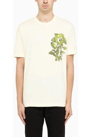 Kenzo Ecru flower-print crewneck t-shirt