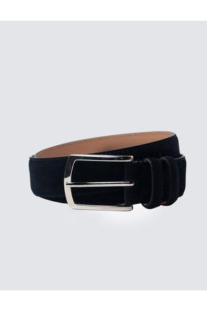 Hawes & Curtis Men's Suede Leather Belt in Navy