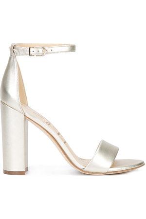 Sam Edelman Women Heels - Yaro block heel sandals - Metallic