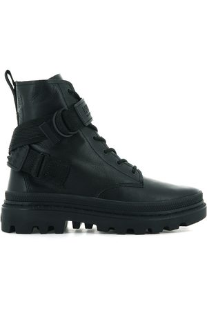 Palladium Pallatrooper Rock Leather Ankle Boots