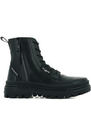Palladium Pallatrooper Zip L Ankle Boots in Leather