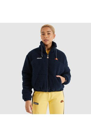 Ellesse Recycled Sherpa Zip-Up Jacket with Embroidered Badge Logo and High Neck