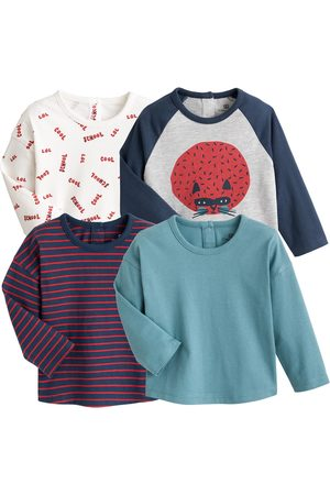 La Redoute Pack of 4 T-Shirts in Organic Cotton with Long Sleeves, 1 Month-4 Years