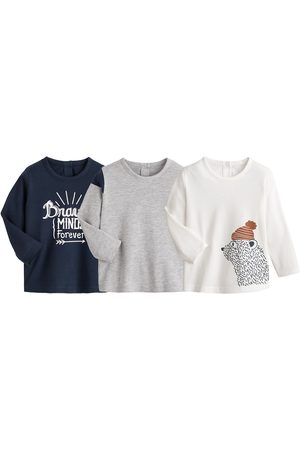 La Redoute Pack of 3 T-Shirts in Organic Coton with Long Sleeves, 1 Month-3 Years