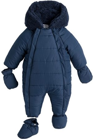La Redoute Warm Hooded Snowsuit, 1 Month-2 Years
