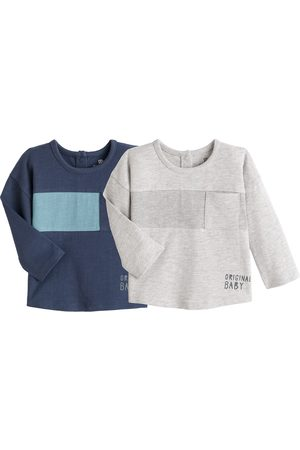 LA REDOUTE COLLECTIONS Pack of 2 T-Shirts in Cotton with Long Sleeves, 1 Month-4 Years