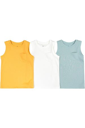 La Redoute Pack of 3 Vest Tops in Plain Organic Cotton, 3-14 Years