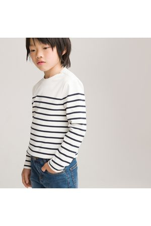 La Redoute Breton Striped Cotton T-Shirt with Long Sleeves, 3-12 Years