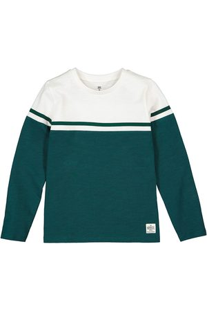 La Redoute Striped Organic Cotton T-Shirt with Long Sleeves, 3-12 Years