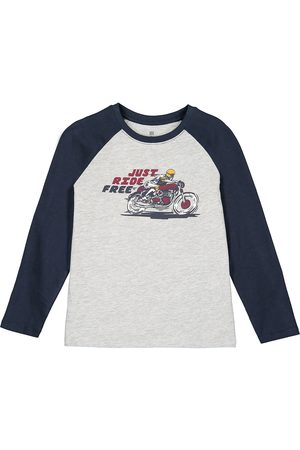 La Redoute Printed Organic Cotton T-Shirt with Long Sleeves, 3-12 Years
