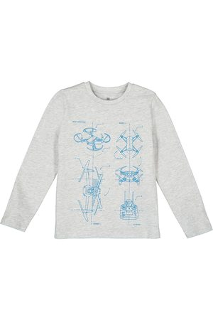 La Redoute Printed Organic Cotton T-Shirt with Long Sleeves, 3-14 Years