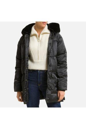 Schott NYC Jktkeaw Padded Puffer Jacket with Faux Fur Hood