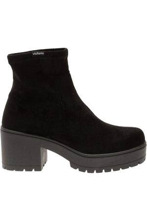 victoria Atalaia Faux Suede Boots with Chunky Heel