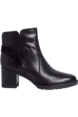 Tamaris Leather Heeled Ankle Boots with Buckle