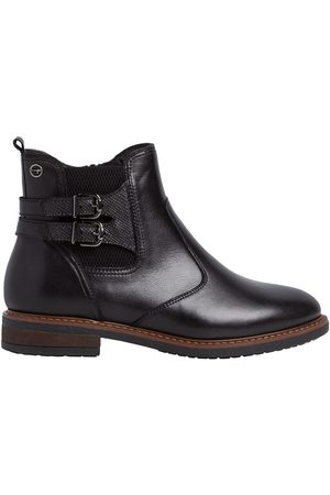 Tamaris Women Ankle Boots - Leather Flat Chelsea Ankle Boots