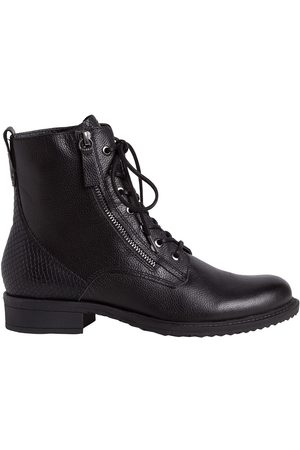 Tamaris Women Ankle Boots - Leather Lace-Up Ankle Boots with Zip Fastening
