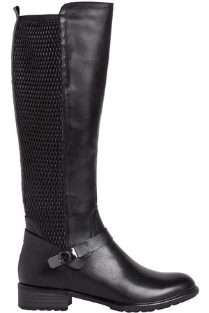tamaris Leather Elasticated Knee-High Boots