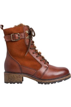 Tamaris Women Ankle Boots - Leather Lace-Up High Ankle Boots