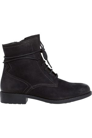 Tamaris Suede Flat Ankle Boots
