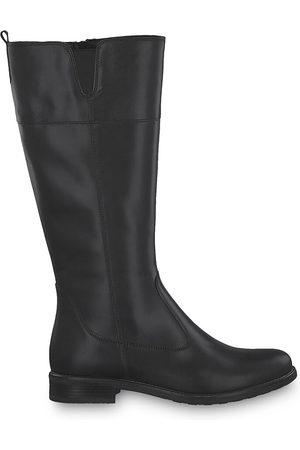 Tamaris Women Heeled Boots - Leather Calf Boots with Flat Heel