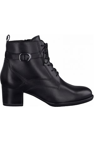 Tamaris Leather Heeled Lace-Up Ankle Boots