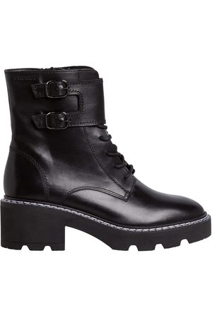 Tamaris Leather Lace-Up Ankle Boots