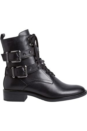 Tamaris Leather Biker Ankle Boots