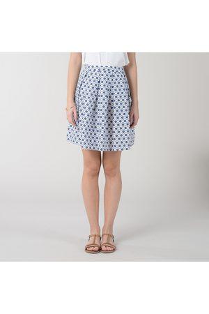 Molly Bracken Cotton A-Line Mini Skirt in Graphic Print