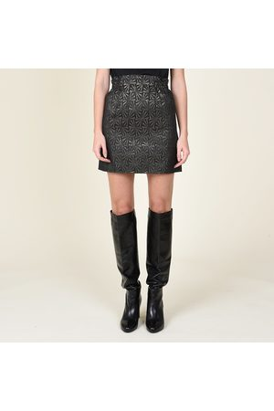Molly Bracken Women Mini Skirts - Jacquard Mini Skirt with Elasticated Waist