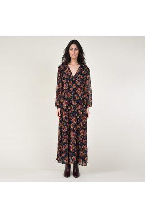 Molly Bracken Floral Print Maxi Dress with V-Neck