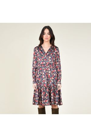 Molly Bracken Printed Full Mini Dress with Fitted Waist