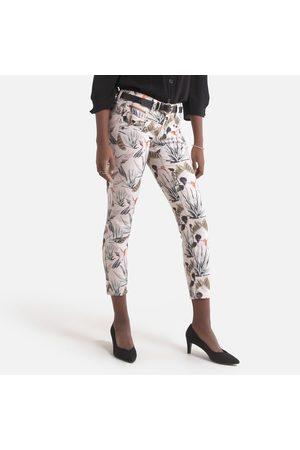 Freeman T Porter Cotton Mix Slim Trousers in Bird Print