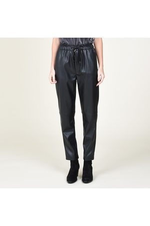Molly Bracken Faux Leather Joggers with 2 Pockets