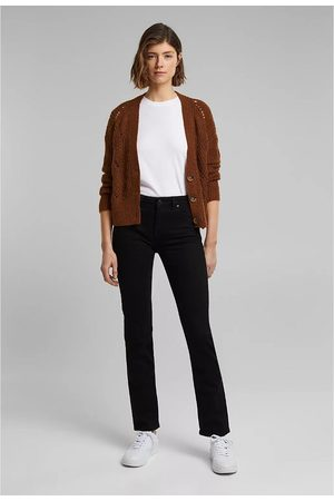 "Esprit Straight Mid-Rise Jeans, Length 32"""