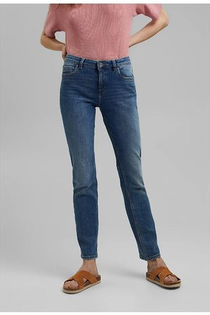 Esprit Organic Cotton Mix Straight Jeans in Mid Rise