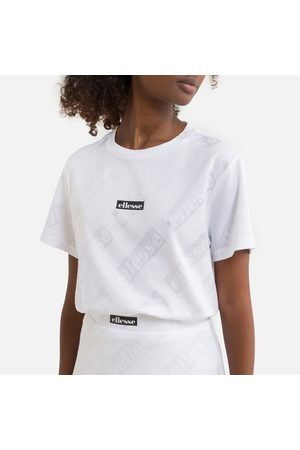 Ellesse Cotton Mix T-Shirt with Short Sleeves and Logo Print