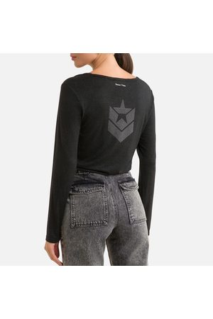 Freeman T Porter Long Sleeve T-Shirt with Logo Print on Back