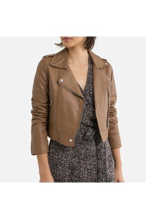Oakwood Women Blazers - Short Zip-Up Biker Jacket in Leather
