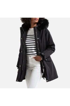 Schott NYC Helens Parka with Faux Fur Hood and Pockets